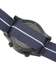 , The Canford watch complete with webbing strap made by Bowmer Bond